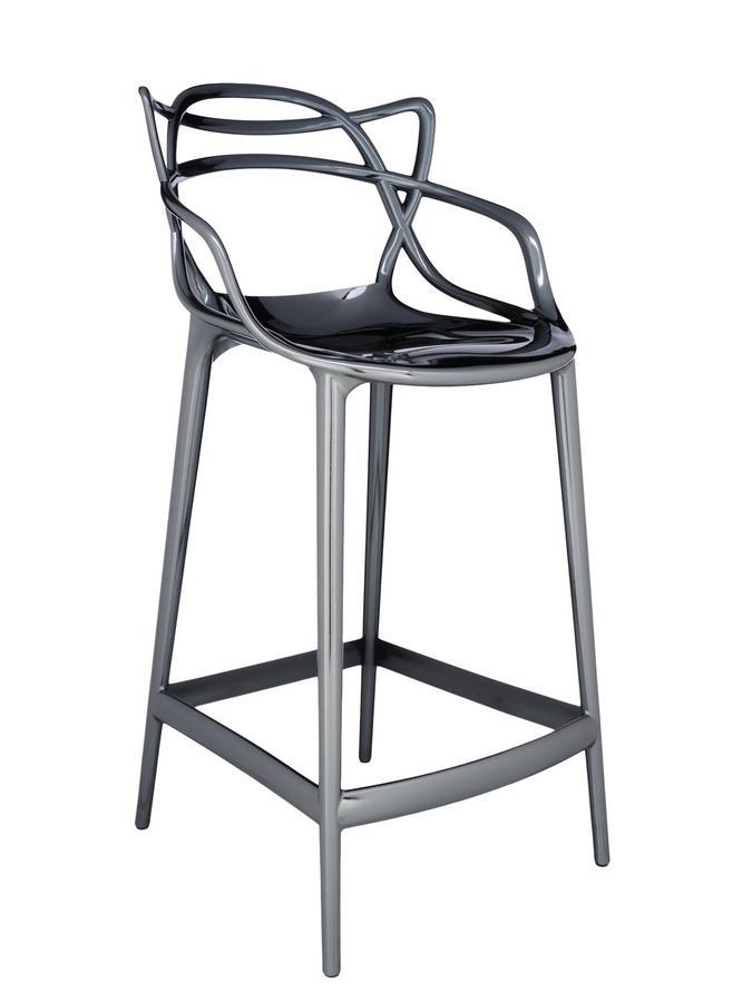 kartell masters barhocker metallic von philippe starck. Black Bedroom Furniture Sets. Home Design Ideas