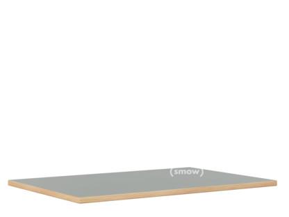 Tischplatte für Eiermann Tischgestelle Linoleum aschgrau (Forbo 4132) mit Eichekante|160 x 80 cm