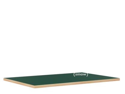 Tischplatte für Eiermann Tischgestelle Linoleum koniferengrün (Forbo 4174) mit Eichekante|200 x 90 cm