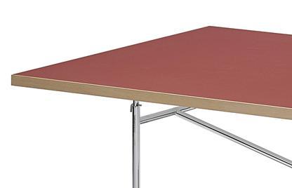richard lampert tischplatte f r eiermann tischgestelle linoleum salsarot forbo 4164 mit. Black Bedroom Furniture Sets. Home Design Ideas