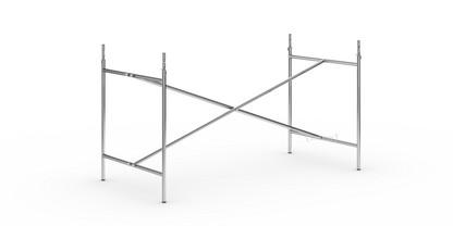 Eiermann 2 Tischgestell  Chrom|senkrecht, mittig|135 x 66 cm|Mit Verlängerung (Höhe 72-85 cm)