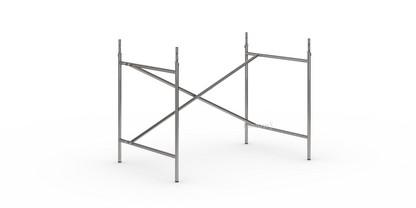 Eiermann 2 Tischgestell  Stahl farblos|senkrecht, versetzt|100 x 66 cm|Mit Verlängerung (Höhe 72-85 cm)
