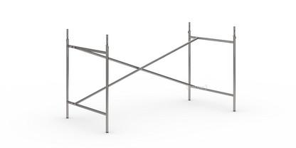 Eiermann 2 Tischgestell  Stahl farblos|senkrecht, versetzt|135 x 66 cm|Mit Verlängerung (Höhe 72-85 cm)