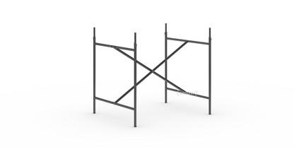 Eiermann 2 Tischgestell  Schwarz senkrecht, mittig 80 x 66 cm Mit Verlängerung (Höhe 72-85 cm)