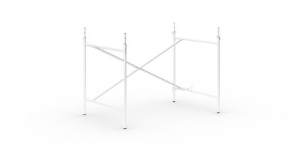 Eiermann 2 Tischgestell  Weiß|senkrecht, versetzt|100 x 66 cm|Mit Verlängerung (Höhe 72-85 cm)