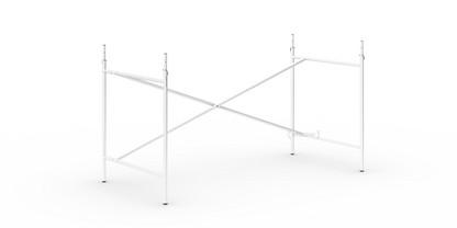 Eiermann 2 Tischgestell  Weiß|senkrecht, versetzt|135 x 66 cm|Mit Verlängerung (Höhe 72-85 cm)