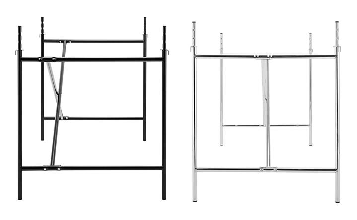 richard lampert eiermann 2 tischgestell schwarz senkrecht versetzt 80 x 66 cm ohne. Black Bedroom Furniture Sets. Home Design Ideas