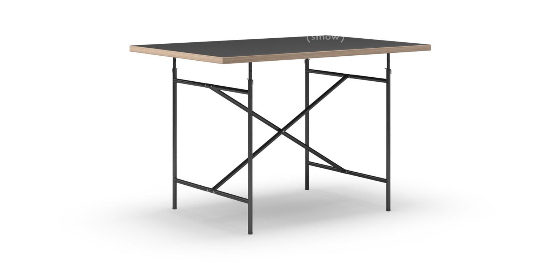 richard lampert eiermann tisch linoleum schwarz mit eichekante 120 x 80 cm schwarz senkrecht. Black Bedroom Furniture Sets. Home Design Ideas
