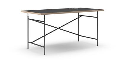 Elegant Eiermann Tisch Linoleum Schwarz Mit Eichekante|160 X 80  Cm|Schwarz|senkrecht,