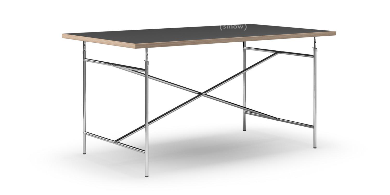 Entzuckend Eiermann Tisch Linoleum Schwarz (Forbo 4023) Mit Eichekante|160 X 90 Cm|