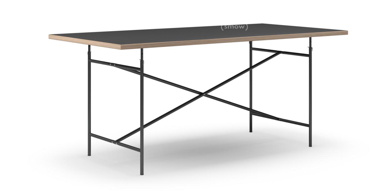 richard lampert eiermann tisch linoleum schwarz mit eichekante 180 x 90 cm schwarz senkrecht. Black Bedroom Furniture Sets. Home Design Ideas