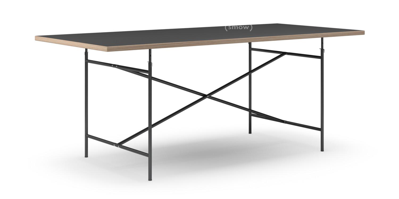 89 usm haller lino linoleum tisch schwarz 200x100 cm for Tisch schwarz