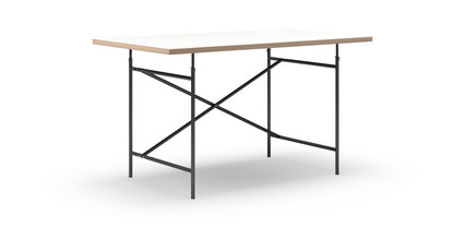 Eiermann Tisch Melamin Weiß Mit Eichekante|140 X 80 Cm|Schwarz|senkrecht,