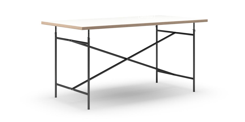 richard lampert eiermann tisch melamin wei mit eichekante 160 x 80 cm schwarz senkrecht. Black Bedroom Furniture Sets. Home Design Ideas