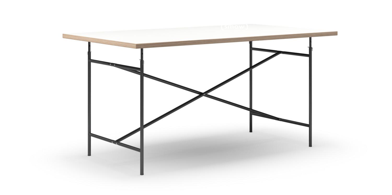 richard lampert eiermann tisch melamin wei mit eichekante 160 x 90 cm schwarz senkrecht. Black Bedroom Furniture Sets. Home Design Ideas