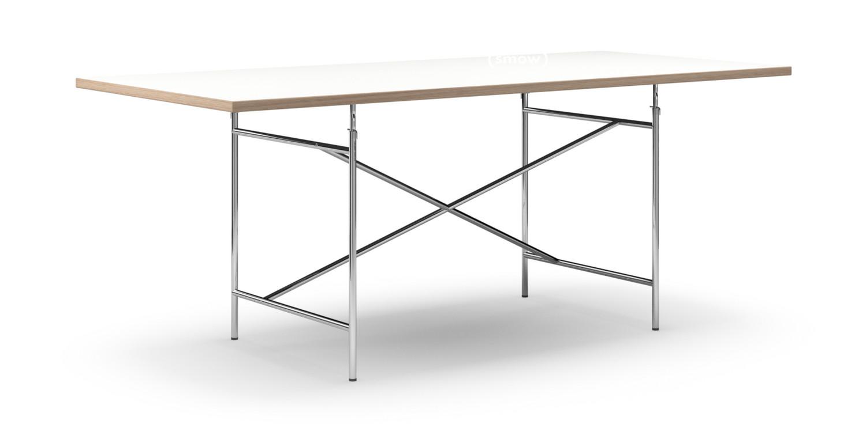 Richard Lampert Eiermann Tisch, Melamin weiß mit Eichekante