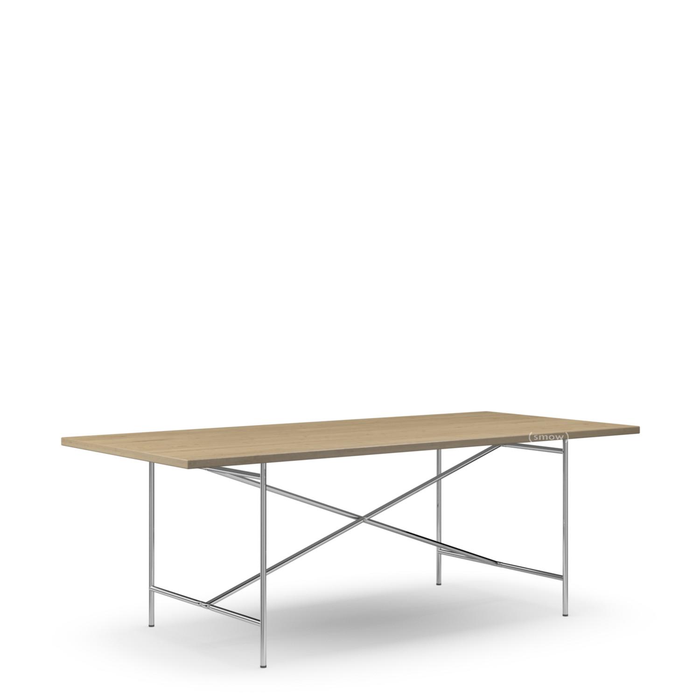 richard lampert eiermann 2 esstisch eiche ger uchert 200 x 90 cm chrom von richard lampert. Black Bedroom Furniture Sets. Home Design Ideas