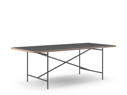 richard lampert eiermann 2 esstisch linoleum schwarz mit. Black Bedroom Furniture Sets. Home Design Ideas