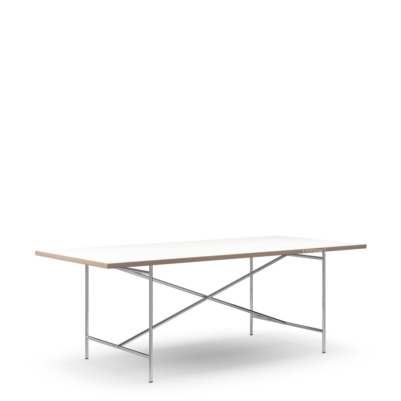 richard lampert eiermann 2 esstisch melamin wei mit eichekante 200 x 90 cm chrom von richard. Black Bedroom Furniture Sets. Home Design Ideas