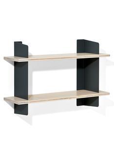 richard lampert wandregal atelier 3 schichtplatte fichte tanne wei pigmentiert schwarz. Black Bedroom Furniture Sets. Home Design Ideas