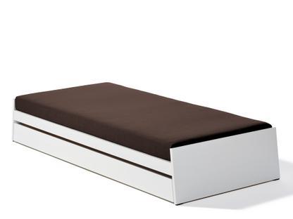 Stapelbett Lönneberga mit Bettkasten weiß lackiert|