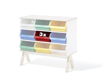 3er Set Kunststoffboxen für Famille Garage (groß)