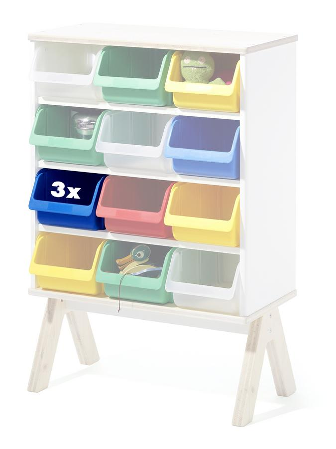 richard lampert 3er set kunststoffboxen f r famille garage klein blau von alexander seifried. Black Bedroom Furniture Sets. Home Design Ideas