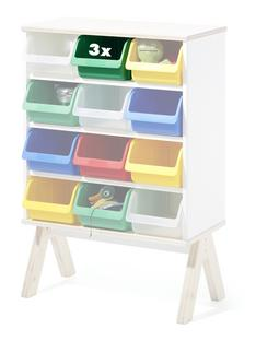 3er Set Kunststoffboxen für Famille Garage (klein) grün