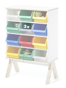 3er Set Kunststoffboxen für Famille Garage (klein)