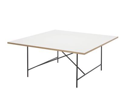 Eiermann 1 Konferenztisch Melamin weiß mit Eichekante|Schwarz|Ohne Niveauausgleichssatz (H 72cm)