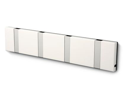 Knax 4 Haken|Aluminium|MDF weiß lackiert