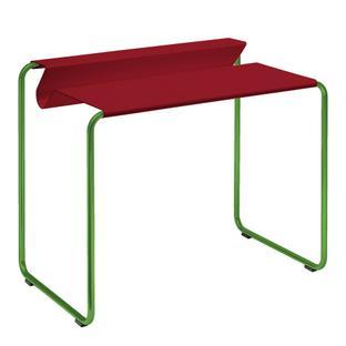 PS07 Sekretär Rubinrot (RAL 3003) Ohne Schreibtischunterlage Grasgrün (RAL 6010)