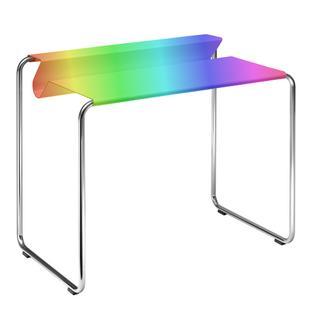 PS07 Sekretär Wunschfarbe (RAL Perl) Ohne Schreibtischunterlage verchromt