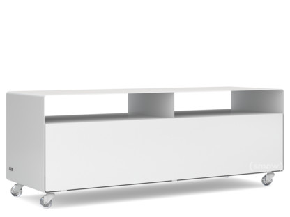 TV-Lowboard R 109N Einfarbig Signalweiß (RAL 9003) Transparentrollen