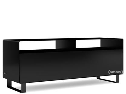 TV-Lowboard R 109N Einfarbig Tiefschwarz (RAL 9005) Kufen lackiert in Außenfarbe