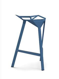 Stool_One 670 mm Küchenhöhe|Blau glänzend (5255)
