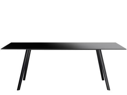 Pilo 200 x 90 cm|Beine schwarz, Tischplatte schwarz