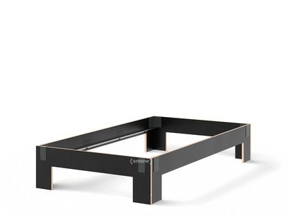 Tagedieb 120 x 220 cm|Ohne Kopfteil|FU (Sperrholz, Birke) schwarz|Anthrazitgrau|Ohne Lattenrost