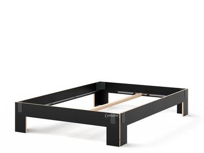 Tagedieb 160 x 220 cm|Ohne Kopfteil|FU (Sperrholz, Birke) schwarz|Anthrazitgrau|Ohne Lattenrost