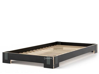 Tagedieb Stapelbett 100 x 200 cm|Schwarz|Mit Roll-Lattenrost