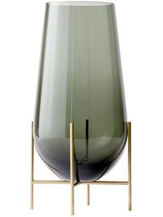 Échasse Vase Groß (H 60 cm, Ø 30/20 cm)|Rauchig / Gebürstetes Messing