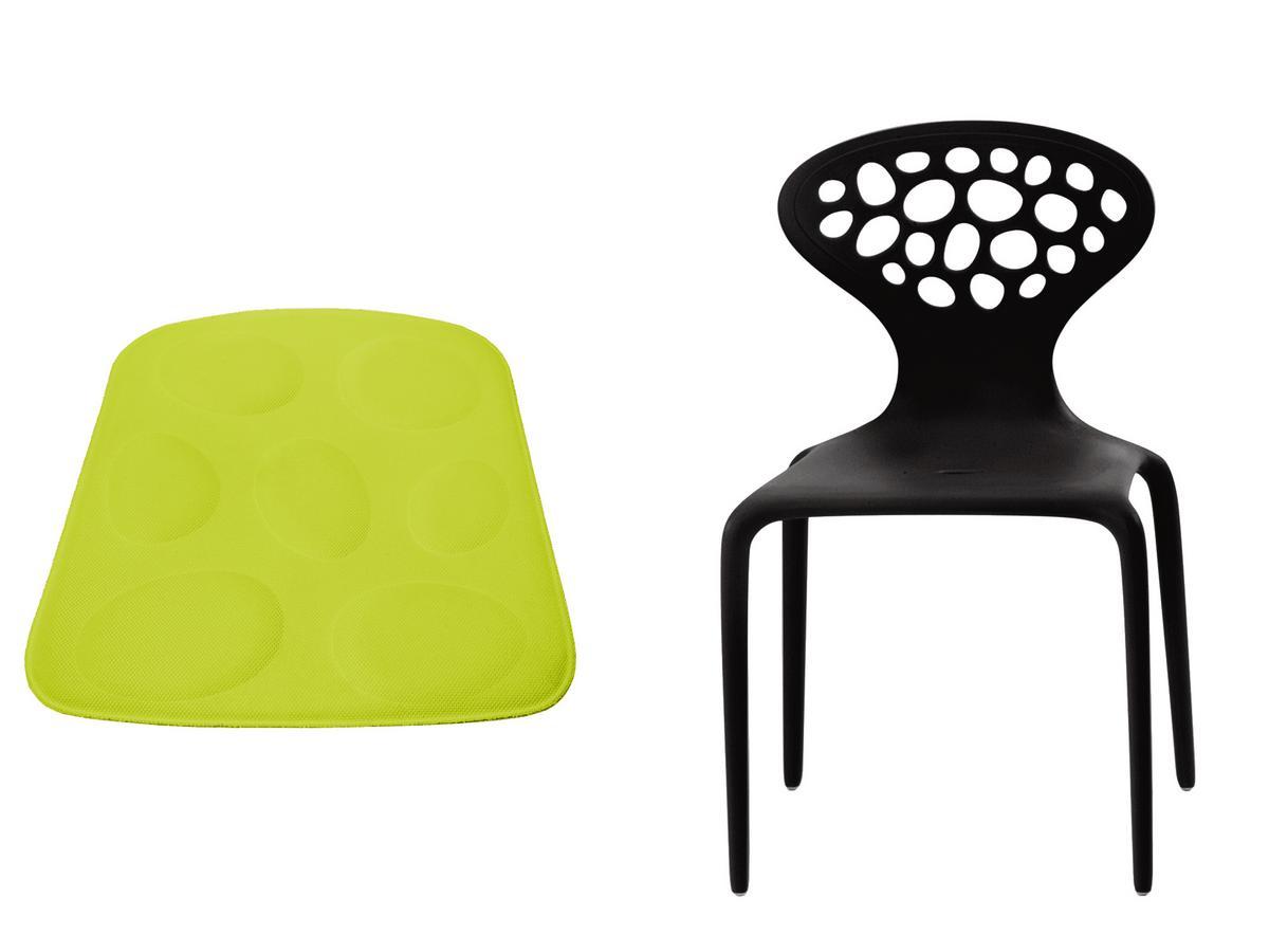 moroso supernatural stuhl schwarz mit sitzkissen gr n. Black Bedroom Furniture Sets. Home Design Ideas