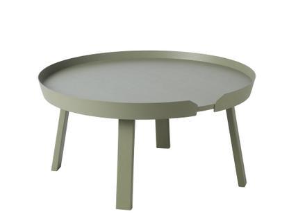 Around Coffee Table Groß (H 36 x Ø 72 cm)|Esche moosgrün