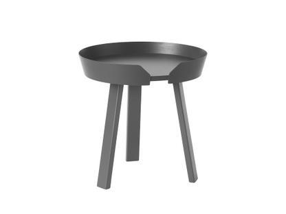 Around Coffee Table Klein (H 46 x Ø 45 cm)|Esche anthrazit
