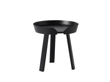 Around Coffee Table Klein (H 46 x Ø 45 cm) Esche schwarz