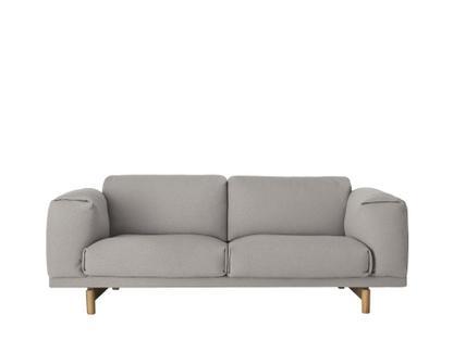 Rest Sofa Zweisitzer|Stoff Hallingdal light grey