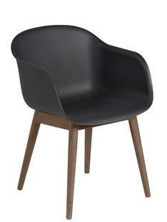 Fiber Armchair Wood Schwarz / dunkelbraun