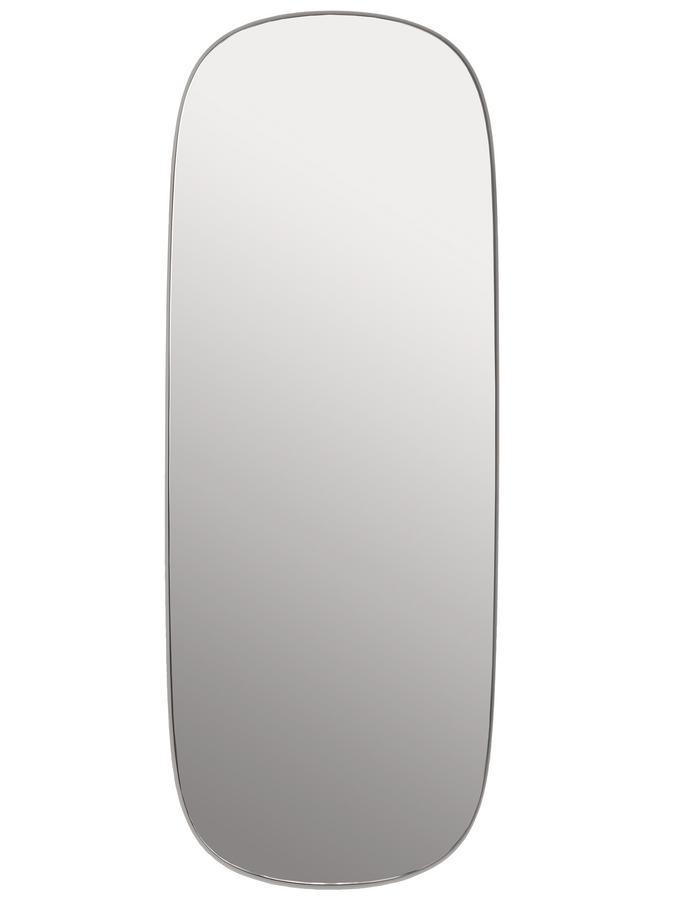 Muuto framed spiegel gro rahmen grau glas klar von - Muuto spiegel ...