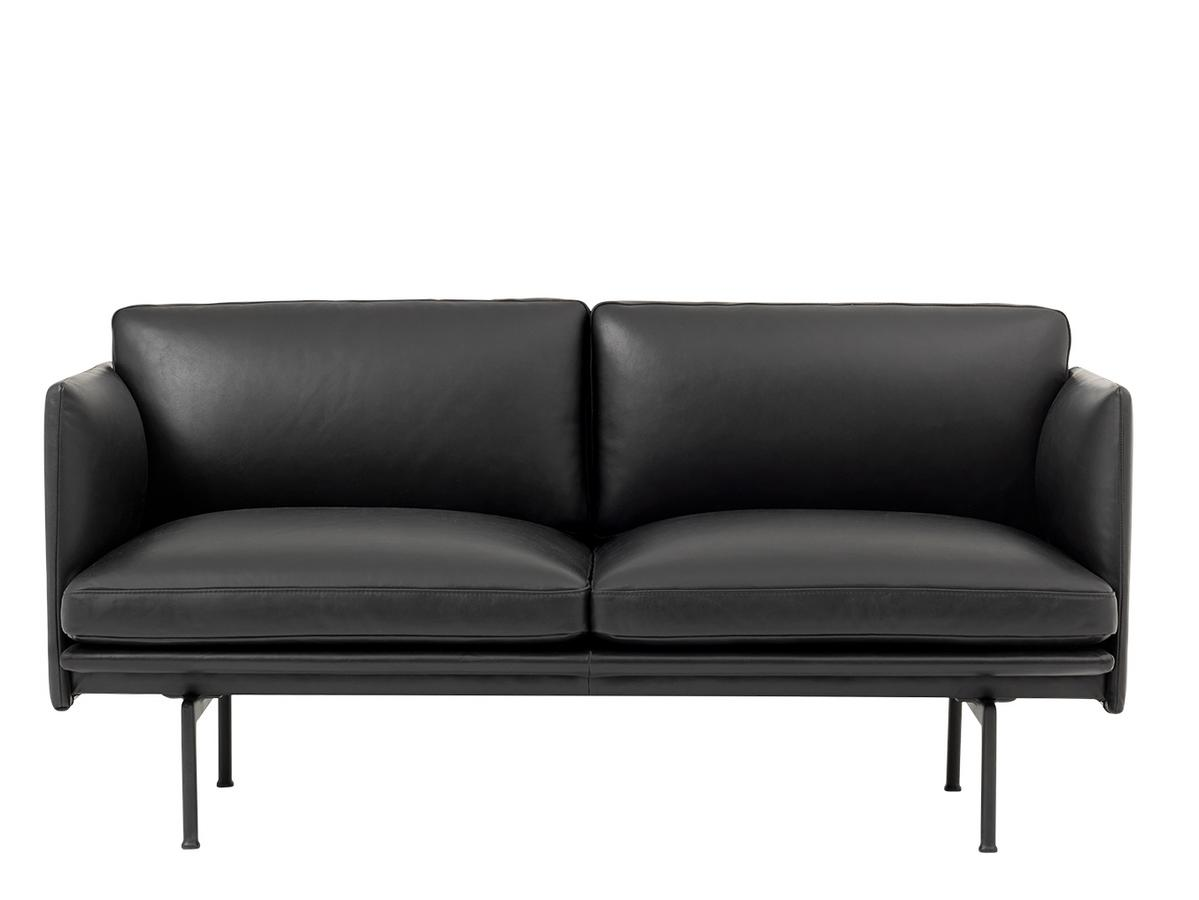muuto outline studio sofa leder schwarz von anderssen. Black Bedroom Furniture Sets. Home Design Ideas