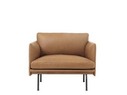 Outline Studio Chair Leder cognac